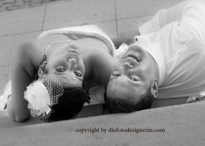 Brautpaar extravagant